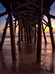 Under the pier (Ed Rosack) Tags: usa sand sunrise calm pier flaglerbeach hires surf ©edrosack lowlight florida clear longexposure beach ocean sky centralflorida seascape landscape olympus water dawn dock shore us