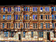 Sandstone Tenements (Billy McDonald) Tags: fractalius glasgow sandstone tenements springburn springburnroad windows samsunggalaxys9