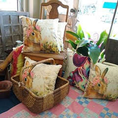 These pillows are perfect for spring and Easter! #thefunkysister #openhouse #springdecor #easterdecor #pillows #customerappreciation #lincoln #prescottave #lnk (The Funky Sister) Tags: instagram the funky sister