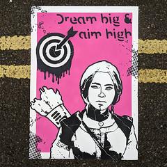 Dream big & aim high (id-iom) Tags: girl lady woman warrior feminist patriarchy smashthepatriarchy feminism art painting stencil modern contemporary pop urban urbanart popart contemporaryart dream dreambig aimhigh aim arrow archer motivational positivity sansforgetica text quote font