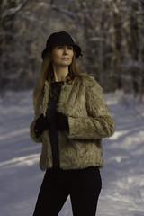 Elena (Adrian Mitu) Tags: elenawomanportraitwinterbaneasa elena portrait winter coat fur hat woman beauty gloves legs woods forest snow