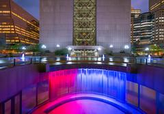 Hennepin County Government Center, Minneapolis MN (Chad Davis.) Tags: architecture cityscape downtownminneapolis hennepincounty hennepincountygovernmentcenter hennepincountypublicsafety longexposure minneapolis minnesota nightshot waterfall