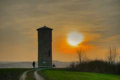 Sunset at the Wartturm (GerWi) Tags: wartturm hofsaale hof saale sonne sonnenuntergang sunset abenddämmerung evening wanderweg himmel sky sträucher büsche