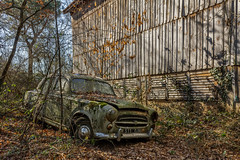 Sortie de Grange... (L'empreinte du temps) Tags: aventure oublié souvenir memoire temps ancien manfrotto 60d old past passé exploring abandoned architecture abandonné exploration urbex france friche 2018 canon decay patrimoine travel culturel closed rouille ruine car oldcar voiture graveyard nature 403 grange peugeot