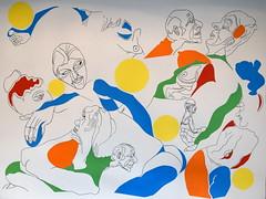 """""""Le Soleil descend"""" (Jean-Jacques Peyre) Tags: collage corps couleur traits composition humour art moderne symbolisme modèles graphisme"""