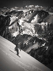 El esquiador/ The skier (Jose Antonio. 62) Tags: spain españa asturias redes mountains montañas snow nieve esquiador skier bw blancoynegro blackandwhite sport deporte