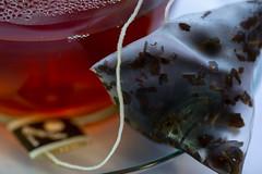 A Nice Cup of Rosie Lee...Tea (me.behindthelens) Tags: macromonday brew tea cup saucre glass teabag macro drink