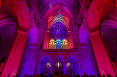Seeing Deeper at Washington National Cathedral (jtgfoto) Tags: approved washingtonnationalcathedral seeingdeeper cathedral lights colors rainbow architecture architecturalphotography washingtondc leadinglines perspective sonyalpha sonyimages lightandshadows colorful rokinon12mm rokinon wideangle church interior