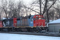 Early Morning Manitowac Turn (recekasten) Tags: cn railroad ns signals wisconsin neenah medina junction 446 zebra beast eje bnsf