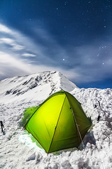 Camping at Todorka Peak (DobriMv) Tags: pirin camping night tent winter snow cold full moon stars orion bulgaria balkans nature nationalpark outdoor hiking