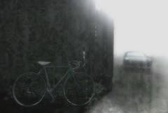 Unseen (Loegan Magic) Tags: secondlife ivy bike car light blackandwhite monochrome barn auto automobile sun sunshine