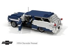 Chevrolet 1956 Nomad Hardtop Wagon (lego911) Tags: chevy chevrolet chev v8 belair nomad hardtop wagon estate 1950s classic chrome twotone auto car moc model miniland lego lego911 ldd render cad povray usa america american afol