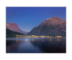 Åndalsnes (andreassofus) Tags: åndalsnes norway night nighttime mountain mountains mountainscape water lake fjord reflection reflections mirror summer summertime travel travelphotography evening longexposure leefilter canon skyline åndalsnesskyline bluesky