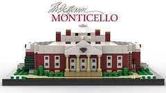Thomas Jefferson's Monticello (Back) (dayman1776) Tags: thomas jefferson lego architecture afol monticello ideas creative classical toy moc microscale micro scale building history historical miniscale bricklink house home