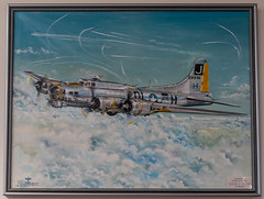 Boeing B-17F Flying Fortress Artwork (Serendigity) Tags: 390thmemorialmuseum arizona b17 boeing pimaairspacemuseum tucson usa usaaf unitedstates wwii aircraft aviation bomber hangar indoors museum painting unitedstatesofamerica