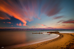Lonely boat (Andri Rio) Tags: photography photo longexposure sunset landscape beach sea boat clouds colors sky canon eos croatia zara summer nature atmosfere