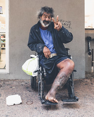 Peace. (Corey Rothwell) Tags: hawaii street wheelchair homelessness canon downtown