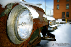 Headlight (tfavretto) Tags: sault soo algoma automobile car rust rusty rusted cold winter snow corrosion headlight metal oxidation scrap