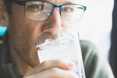 Day 50 of 365 - Fresh (gcarmilla) Tags: fresh 365 365project water acqua bicchiere face glasses glass occhiali ice ghiaccio bokeh ritratto