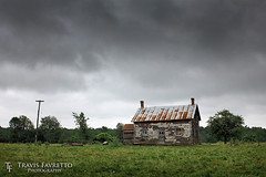 Athens Farmhouse (tfavretto) Tags: abandoned athens cloudy condemned dilapidated farm farmhouse forgotten ominous foreboding meadow roof rural rusted rust rusty tin pasture soperton tinroofrusted