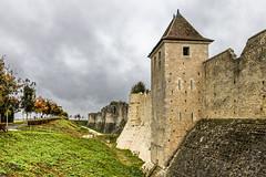 Remparts de Provins (Lucille-bs) Tags: europe france iledefrance seineetmarne provins rempart tour ville ciel noir
