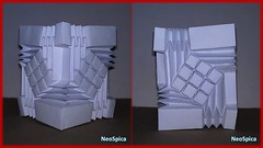 Origami Water Bomb Square Tessellation / Square Column (2/3) (NeoSpica / NeoLiveArt) Tags: origami water bomb waterbomb square tessellation column shape ronresch paper fold folding mosaic diamond rhombus collapsible structure pleat pleated pleating geometric art craft papercraft