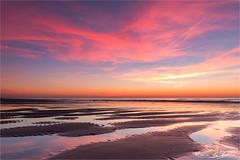 It's been a while! (karindebruin) Tags: nederland noordwijk noordzee northsea thenetherlands zonsondergang zuidholland beach reflectie reflection strand structures sunset
