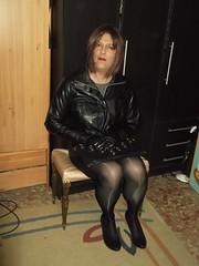 DSCF1918 (fanya vaderna) Tags: crossdresser crossdressing crossdressed crossdress drag boi boytogirl femme feminized high heels hosiery pantyhose nylon minidress maletofemale m2f stilettoheels transvestite tgirl tranny tights cd tv transgender