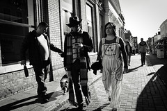 Dr Who I presume? (Bury Gardener) Tags: streetphotography street streetcandids snaps strangers candid candids people peoplewatching folks nikond7200 nikon england eastanglia uk britain burystedmunds bw blackandwhite monochrome mono cornhill