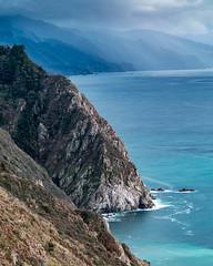 El Sur Grande (Kirk Lougheed) Tags: bigsur california usa unitedstates coast landscape mountainside ocean outdoor pacific pacificocean rain rainshower sea seascape shore shoreline sky water
