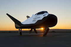 Dream Chaser at Sunrise (aeroman3) Tags: armstrongflightresearchcenter afrc commercialresupplyservices crs2 commercialcrew commercialspace iss sierranevadacorporation snc dreamchaser alt2 freeflight edwards ca usa