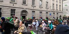 St. Patrick's day parade in Dublin (MargrietPurmerend) Tags: bicycle dublin parade saintpatricksday ireland