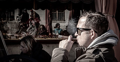 a short story about a taste of life (ignacy50.pl) Tags: portrait streetphotography streetportrait face cigar smoke smoking sunglasses outdoor man one person
