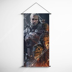 The Witcher 15 Decorative Banner Flag for Gamers (gamewallart) Tags: background banner billboard blank business concept concrete design empty gallery marketing mock mockup poster template up wall vertical canvas white blue hanging clear display media sign commercial publicity board advertising space message wood texture textured material wallpaper abstract grunge pattern nobody panel structure surface textur print row ad interior