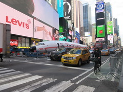 2019 Celebration of Retro TWA Hotel - Wingless Plane Times Square 4505 (Brechtbug) Tags: 2019 celebration retro twa hotel brooklyn wingless 1958 lockheed constellation connie l1649a starliner airplane visits times square before heading trans world airlines new yorks john f kennedy international airport known york anderson field commonly idlewild city march 23rd nyc 02232019