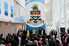 VIPs on stage during ORIA ceremony (Cayman Islands Government Information Services) Tags: cayman royal visit charles prince wales camilla duchess cornwall owen roberts international airport united kingdom great britain