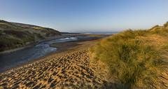Shine on (Through Bri`s Lens) Tags: northdevon croydebay sanddunes grass beach space stream shine brianspicer canon5dmk3 canon1635f4