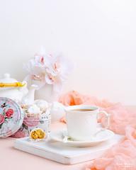 Kahk 1 (omer.arahman) Tags: kahk cookies middleeastern yummy homemade homebaking sugar nuts peanuts teapot teacup tea board white pink flowers food drink hot