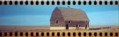 No roads (No Stone Unturned Photography) Tags: kodak folding expired polaroid highdefinition 400 agfa 35mm film sprocket holes jiffy camera art deco 1933 six16 616 panoramic abandoned old barn farm sunset