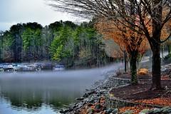Fog Moved Across Lake Windward