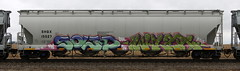 Solid/Wylr (quiet-silence) Tags: graffiti graff freight fr8 train railroad railcar art solid wylr uh mds hopper shqx shqx15527