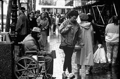 disabled man begging (hoffman) Tags: horizontal disability handicap transport wheelchair british health infirmity uk unitedkingdom affliction disabled disablement disadvantage handicapped impairment impediment incapacitated incapacity davidhoffman wwwhoffmanphotoscom sanfrancisco california usa