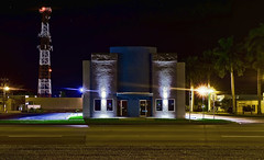 Dixie Crystal Theatre, 100 E Sugarland Hwy, Clewiston, Florida, USA / Built: 1941 / Architectural Style: Streamline Moderne / Architect: C. A. Cone / Added to NRHP: September 25, 1998 / Built by: Earl Anderson Contracting Co. (Photographer South Florida) Tags: dixiecrystaltheatre clewiston city cityscape urban downtown skyline hendrycounty florida centralbusinessdistrict building architecture commercialproperty cosmopolitan metro metropolitan smallcity sunshinestate realestate lakeokeechobee lakeokeechobeescenictrail atlanticcoastalplain historical southbank radioantenna antenna palmtrees 100esugarlandhwy usa built1941 streamlinemoderne cacone september251998 earlandersoncontractingco clewistontheater