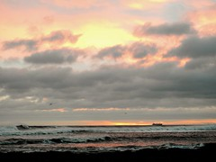Sunrise From St. Mary's Causeway - Whitley Bay (Gilli8888) Tags: whitleybay coast coastal coastline northsea northeast nikon p900 coolpix sky clouds sea water marine stmaryslighthouse stmarysisland dawn rocks sunrise