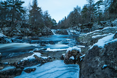 Waterfalls (rattigan_tim) Tags: waterfall movement flowing movingwater motion river waterway water scotland sutherland lairg cassleyfalls winter ice frost freeze uk walking exp explore nature scenic scenery forest walks snow snowfall gobe nd64