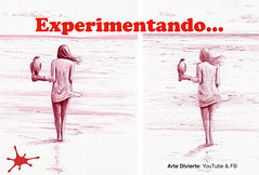 ¡EXPERIMENTANDO! Cómo dibujar una mujer con halcón - Pluma fuente (artedivierte) Tags: arte dibujo artedivierte playa mujer halcón plumafuente boceto tutto3 artistleonardo leonardopereznieto patreon tutorial