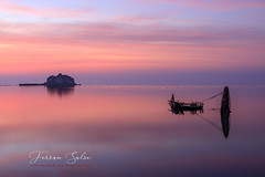 La Torre de Sant Joan (Yaco1959) Tags: delta ebro amanecer lucroit ngg ngs cielo nubes mar mediterraneo naturaleza