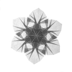 Snowflake (guangxu233) Tags: paper art paperart paperfolding fold origami origamiart handmade 折纸 折り紙 折り紙作品 snowflake