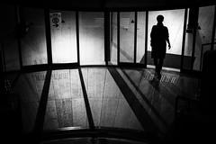 Enter (y uzen (犬も歩けば…)) Tags: entrance japan light shadow night door monochrome zuiko silhouette architecture