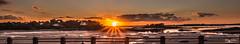 Vu du Balcon d'Emeraude (guyju) Tags: saintbriacsurmer soleil france bretagne britanny côtedémeraude mer ciel balcondemeraude contrejour plage maréebasse lowtide sunset coucherdesoleil panoramique